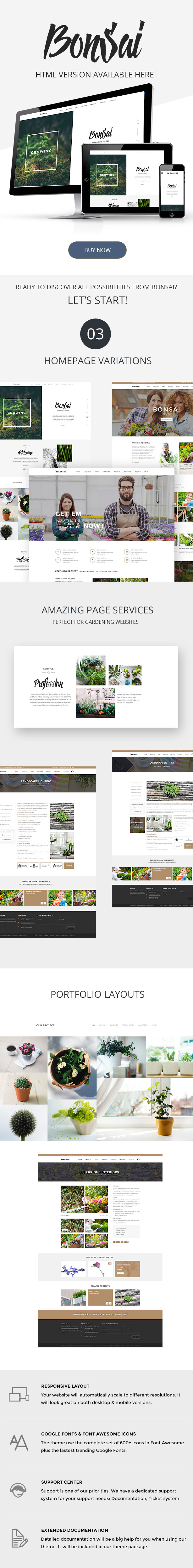 demo for Bonsai HTML template