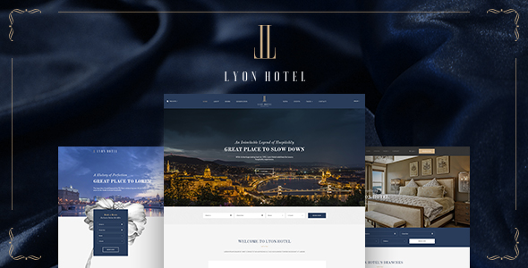 LYON – Luxury Hotel Booking HTML5 Template