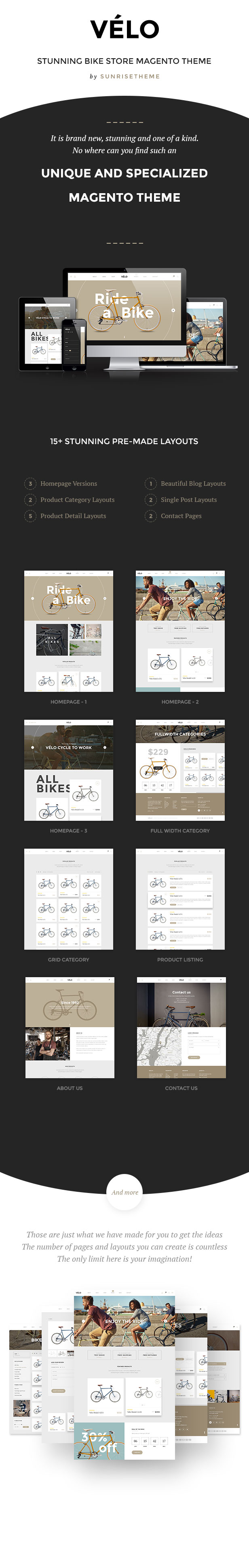 magento theme bike shop